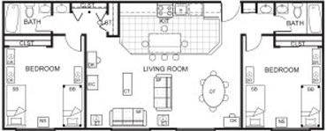 Millennium Two Bedroom at Beaver Hill