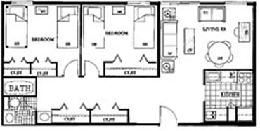 Standard Two Bedroom at Beaver Hill