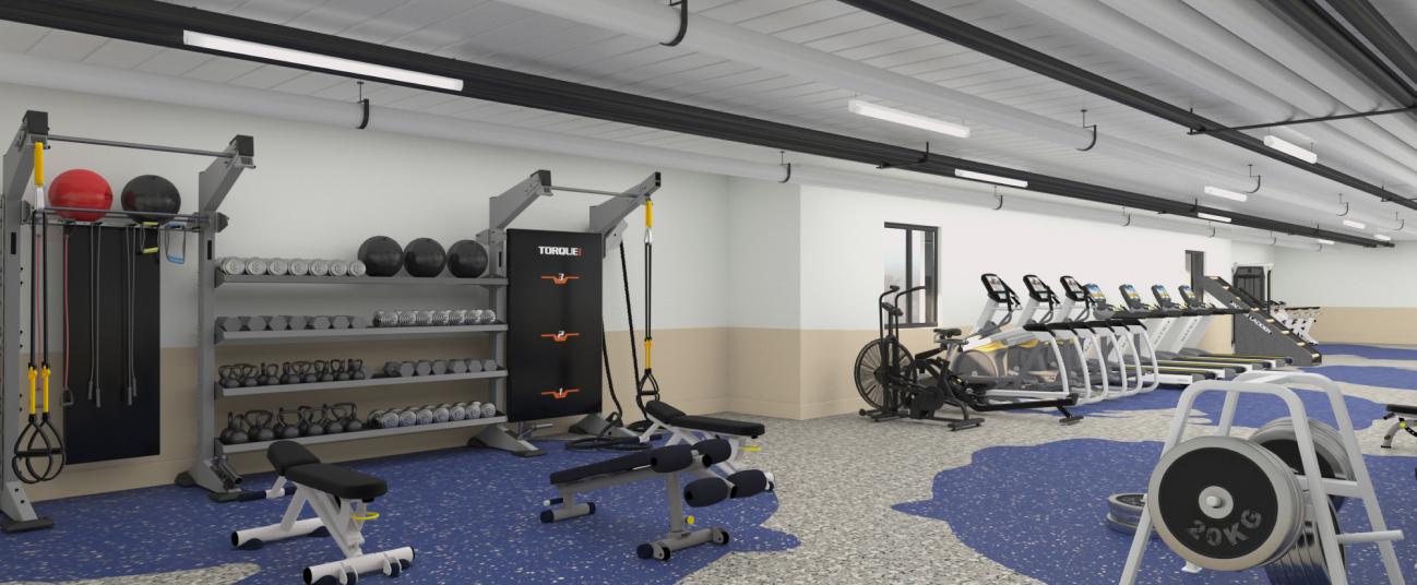 Rendering of gym